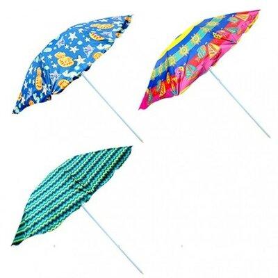 Зонт пляжный серебро 1,5 м и 1,8 м с наклоном и без