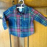 F&F. Новая рубашка на мальчика 3-6 мес. Рост - 68 см.