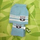 Комплект шапка и шарф на флисе wolfeen