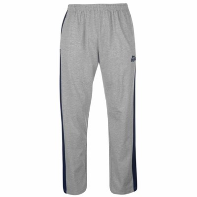 Штаны спортивные мужские Lonsdale Jersey Pants Mens Размер М Серые