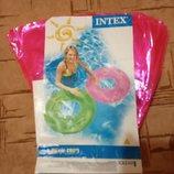 Круг для плавания Intex неоновый розовый, 76 см
