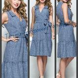 44-50 Льняное платье, Летнее платье, Жіноча сукня, Женское платье.