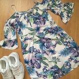 Англия f&f интересное стильное платье 100% вискоза