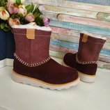Новые замшевые демисезонные ботинки Clarks. разм.27-28. Оригинал