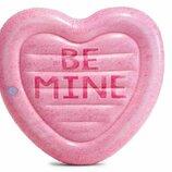 Надувной плотик карамельное сердце Intex 58789 размер 145х142см