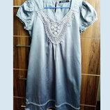 Красивое платье 100% хлопок серого цвета от Atmosphere