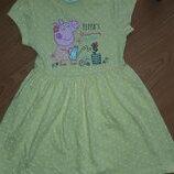 Платье девочке свинка Пепа 2-3 года