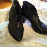 Ботинки черные CH , р.38, кожа натуральная