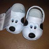 Пляжные босоножки 18-25 р. кроксы собачки, сандалии, крокси, пенка, босоніжки, белые, бассейн,