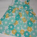 Красивое в ромашку платье ф.H&M для девочки 9/12мес отличное состояни
