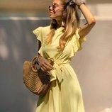 Красивое легкое платье три расцветки