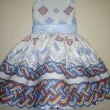 Пышное нарядное платье украинское детское