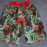 пляжные шорты с ниндзя черепашками Rebel 7-8 лет рост 122-128 Англия