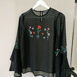 12 uk Женская блуза с вышивкой