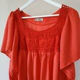 XXL женская блуза натуральная ткань