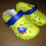 Пляжные босоножки 20-27 р. кроксы, сандалии, крокси, пенка, босоніжки, сандалі, бассейн, желтые