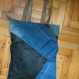 Большая сумка планшет на плечо шоппер пляжная