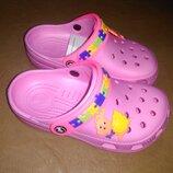 Пляжные босоножки 22-29 р. кроксы, сандалии, крокси, пенка, босоніжки, сандалі, бассейн, розовые