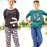 Штаны джоггеры в цветы для девочки р. 86 92 98 104 110 116 Pepperts Германия