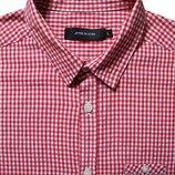 Мужская рубашка красная в мелкую клетку Junk de Luxe L M