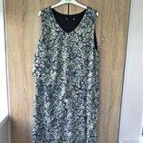 Многослойное платье, большой размер uk16/18 - наш 50/52
