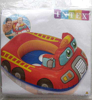 Детский надувной круг Intex 59586 пожарная машина 74 х 58 см.