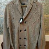 Ексклюзивний светр-кардиган чоловічий акриловий J. Hart & Bros. M-L Італія свитер мужской