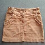 Вельветовая юбка. юбка трапеция. короткая юбка. мини