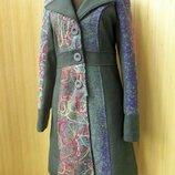 Итальянское шерстяное пальто весна осень