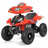 Квадроцикл детский M 2403ALR-3 МР3 , кожаное сиденье, красный