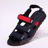 Мужские кожаные сандалии Fila Blue / Red