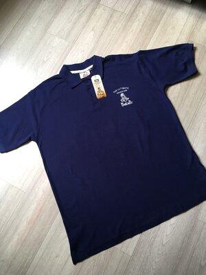Синяя мужская футболка-поло от Dakar размер Хl евро смотрите замеры