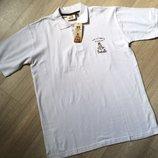 Белая мужская футболка-поло от Dakar размер M, L, Хxl евро