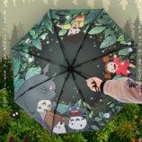 Зонт «Тоторо». Аниме Зонтик. Хаяо Миядзаки. Изысканный и реалистичный принт.