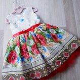 Платья в укр стиле для девочек от Miss M