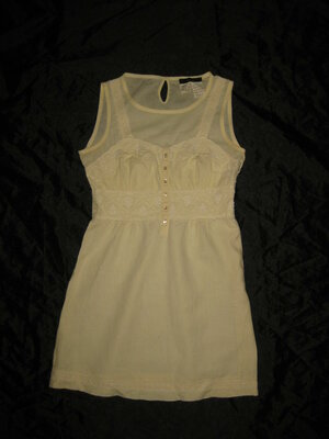 размер S, лёгкое бежевое льняное платье MaxMara
