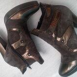 Замшевые ботинки. ботильоны
