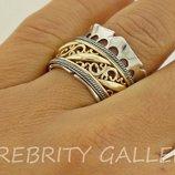 10% скидка подписчикам I 168674 Gd 18,5 18 Кольцо серебряное кольцо размер 18,5 18