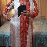 Длинное платье типа вышиванка