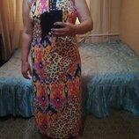 Длинное турецкое трикотажное платье материал стрейчевый размер 16 талия резинка George