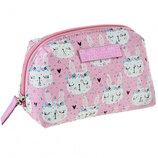 Женская косметичка розовая YES Rabbits 532655