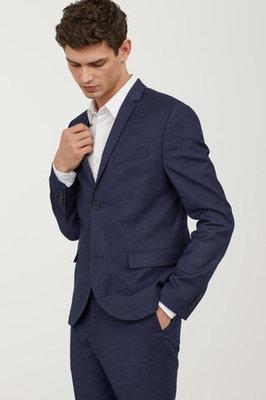 Оригинальный пиджак Skinny Fit от бренда H&M разм. 52