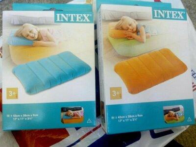 Надувная подушка Intex Downy Pillow.Разные цвета