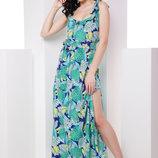 Женский длинный шикарный сарафан платье Флёр ткань софт с притом/ полоской скл.15