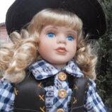 Куклы фарфоровые парочка ковбоев