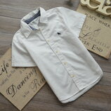 Рубашка белая классика H&M 2-3г