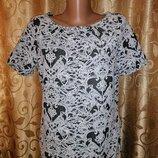 Красивая женская блузка, футболка, кофта с коротким рукавом F&F