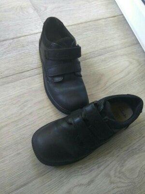 Кожаные туфли Clarks, стелька кожа 19,5см