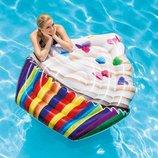 Пляжный надувной матрас плот Intex 58770 Кекс, 142 х 135 см