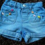 Шортики джинсові 3-4р для дівчинки